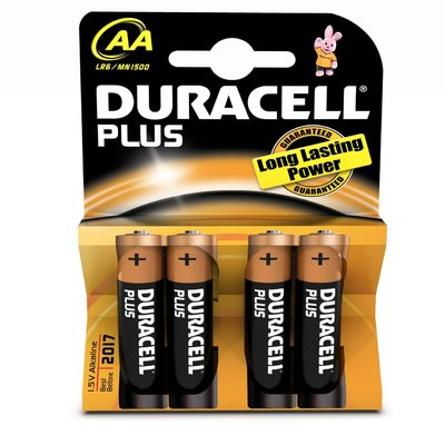 Duracell Plus Batteries Size AA 4 Pack