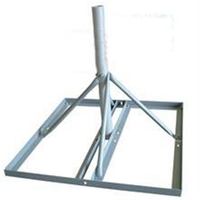 Non Pen small Flat Roof Dish Mount Frame