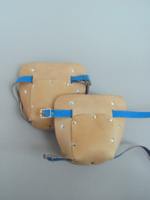 VTKPH Tan Leather Knee Pads
