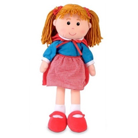Little Red Riding Hood rag doll - standing