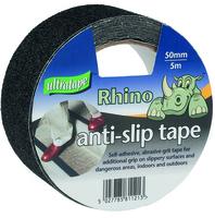 RHINO ADHESIVE ANTI-SLIP TAPE BLACK  50MM X 5M ROLL