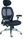 Teknik OA1013BLK Cobham Black Mesh Chair