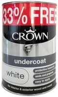 CROWN UNDERCOAT PAINT WHITE 1 LTR