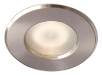 ROBUS IP65 GZ10 SHOWER DOWNLIGHTER BRUSHED CHROME
