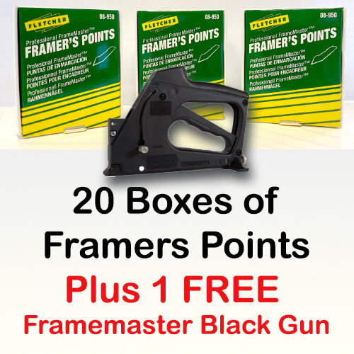 20 Boxes of Framers Points  ( Box of 3000 )
