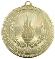 50mm Gold Victory Torch Medal
