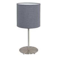 EGLO Pasteri Satin Nickel with Grey Shade Table Lamp | LV1902.0085
