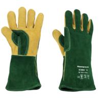 Green Welder Gauntlet Kevlar-Stitched