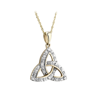 9K DIAMOND ILLUSION TRINITY PENDANT