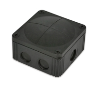 Junction Box 85x85x46 with connector Black