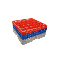 Glass Rack 25 Compartment with 3 Red Extenders