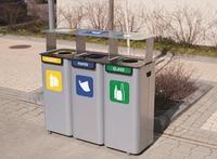 Recycling Station Bin For Waste Segregation 3x70ltr