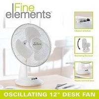"FINE ELEMENTS 12"" OSCILLATING DESK FAN"