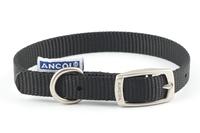 """Ancol Nylon Buckle Collar Black 14"""" x 1"""