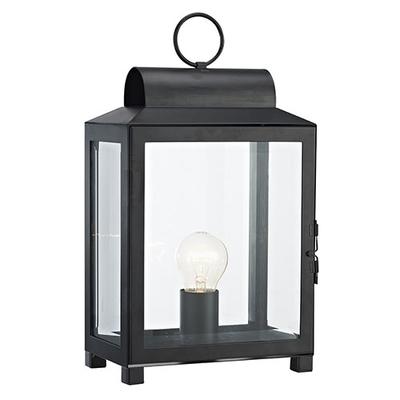 Box Rectangle Table Lamp Black