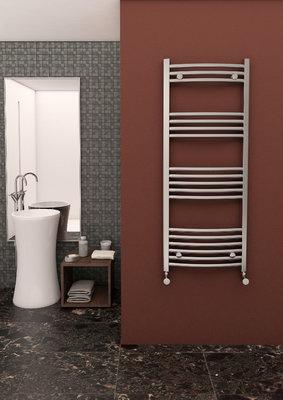 Curved Chrome Towel Rail 600mm x 1800mm