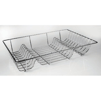 Chrome Wire Flat Dish Drainer