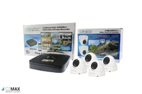 C2Max 8CH 1TB DVR and 4 x  Fixed IR White Dome Cameras with cable and PSU
