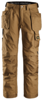 "SNICKERS 3214 CANVAS HOLSTER POCKET TROUSERS 048 BROWN (W33"" X L32"")"
