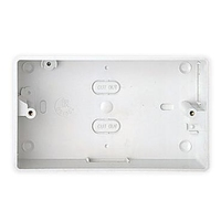 MK ESU242WHI Egatube Box 2G 25mm Switch Socket Surface Round Cor