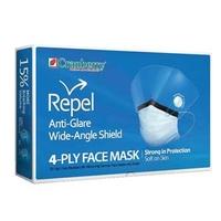 CRANBERRY MASKS - REPEL 4PLY-SHIELDED-EARLOOP-PK25