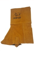Premium Gold Leather Gaiters (Spats) - 12""