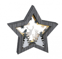 LED STAR STAG DIORAMA GREY COMES WITH BATTERIES 006X040015