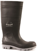 Bison Inca Safety Gumboot Black