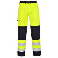 Portwest Hi-Vis Multinorm Trousers Hi-Vis Yellow/Navy