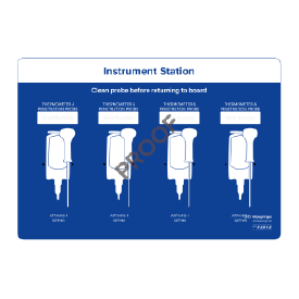 Instrument station for 4x instruments