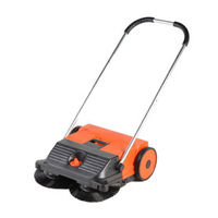 The HAAGA Topsweep 55 is a light-weight and easy to handle sweeper which has a double disc brush system