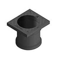 EASI-SUMP RADON CAP LINK COLLAR ESCL01 (STRAIGHT) 166X146X151mm