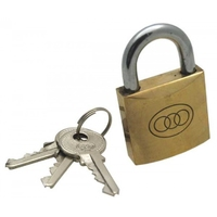 50MM BRASS PADLOCK SINGLE