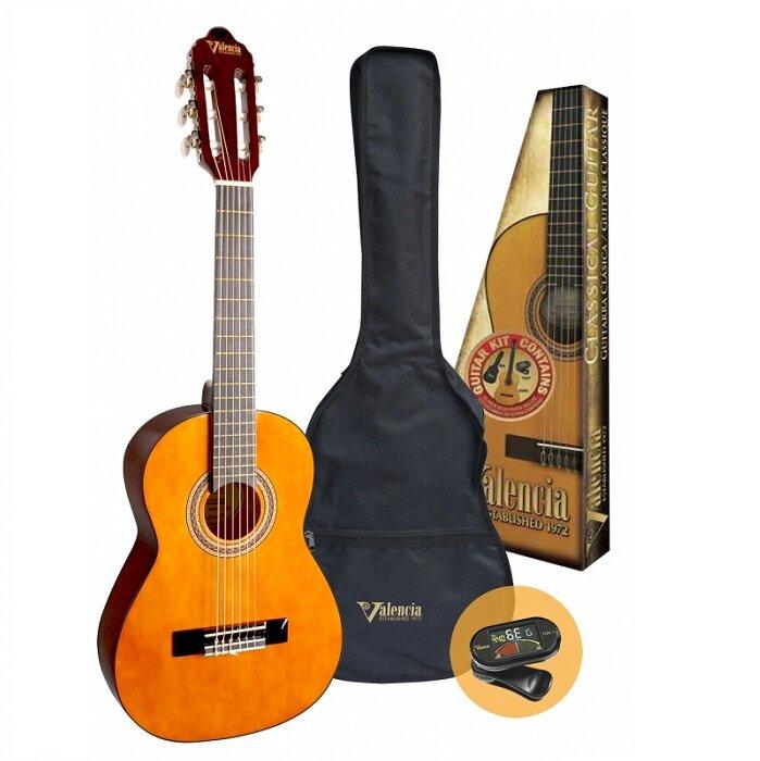 Valencia VC102K Classical Guitar Pack | 1/2 Size | Natural