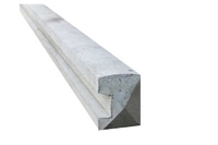 2.75m Slotted Concrete End Posts 94x109mm