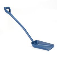 Ergonomic detectable one piece shovel