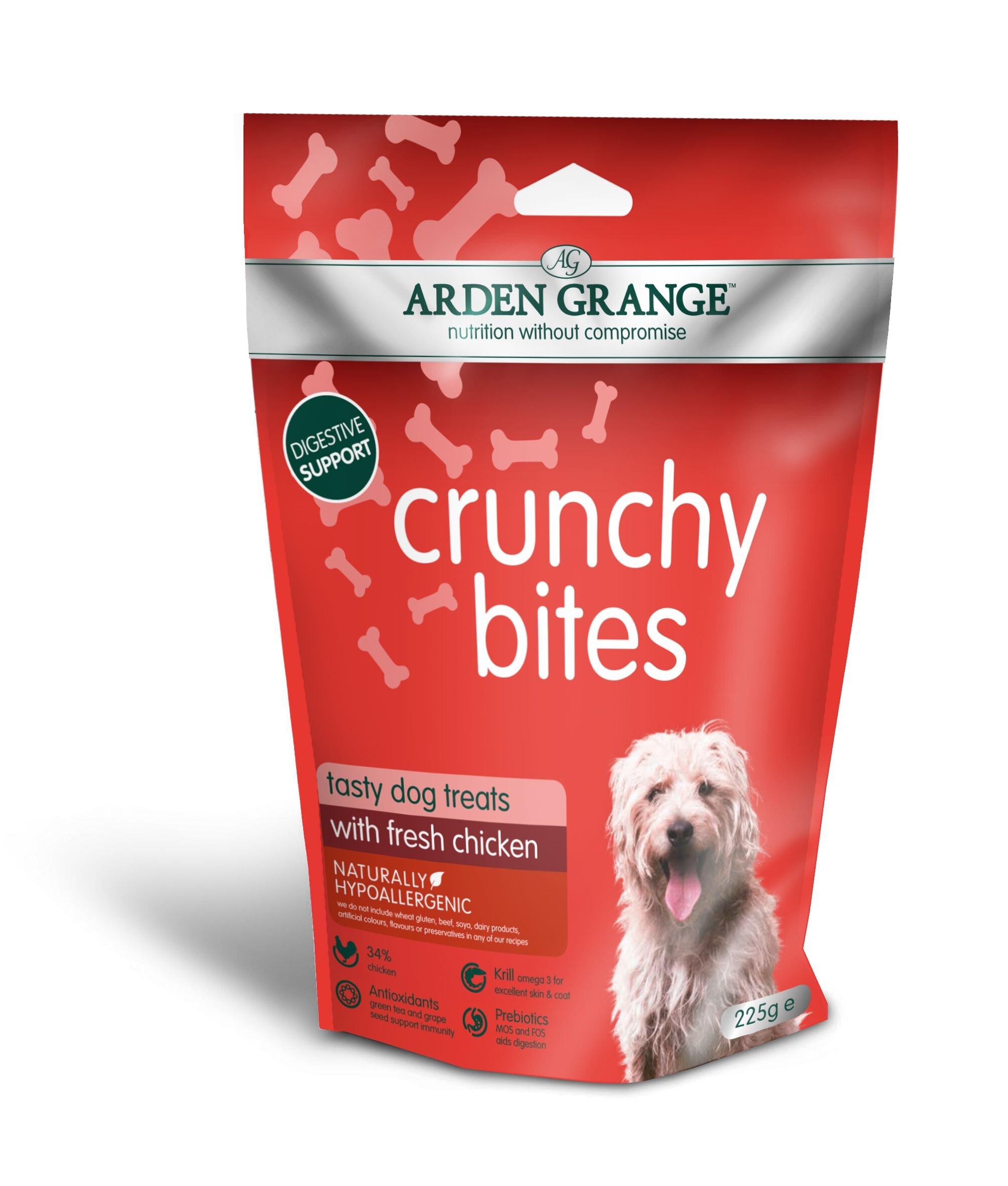 Arden Grange Crunchy Bites Chicken Dog Treats 225g