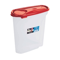 Cuisine 5ltr Cereal Dispenser Chili Red Lid