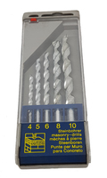 5 Piece Masonry Drill Bit Set 4mm to 10mm