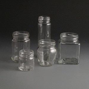 Glass jars 40 to 190ml