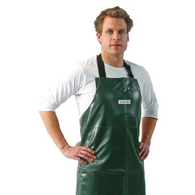 Bib aprons, aprons with sleeves