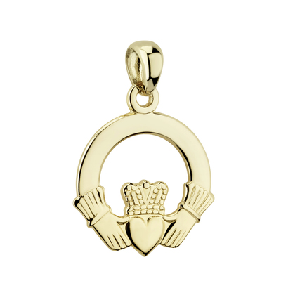 14K LARGE PLAIN CLADDAGH