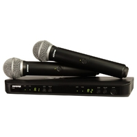 Shure BLX288/PG58 | Dual Channel Handheld Wireless System