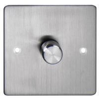DETA Flat Plate 1gang Dimmer Chrome | LV0201.0289