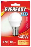 EVEREADY 6W (40W) B15 LED GOLF BALL 470 LUMENS