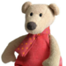 Close-up image of Nathan the musical teddy bear