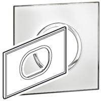 Arteor (British Standard) Plate 3 Module Round Mirror White | LV0501.0174