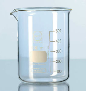 Beaker Low Form 400ml, Graduated, Borosilica