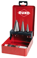 Ruko Tube & Sheet Drill Set 4 Piece Drill sizes 1, 2 and 3 with 30g. Cutting Paste