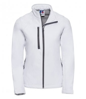 J140F Ladies White Elite Softshell Jacket